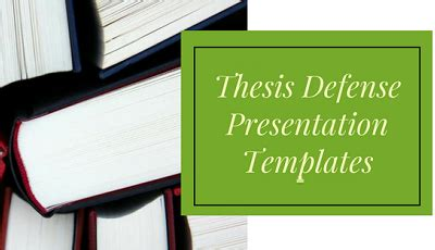 How to defend your thesis ppt